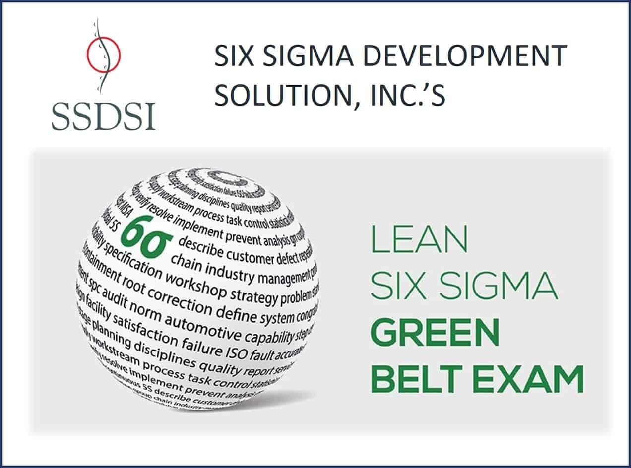 Lean Six Sigma Green Belt Certification Examination Sixsigma Dsi